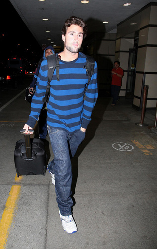 Brody at airport with Frankie