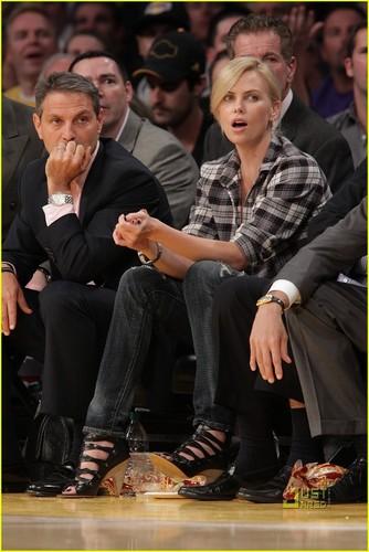 Charlize @ LA Lakers Game