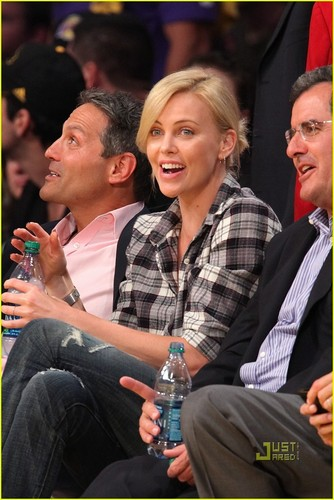 Charlize @ LA Lakers Game