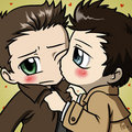 Cute Dean and Castiel