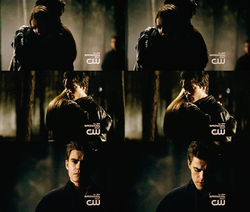 vampire diaries stefan and elena kiss. vampire diaries stefan and