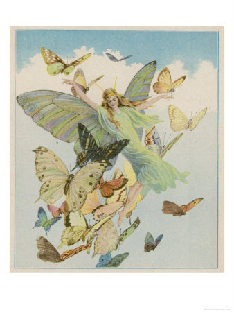 Fairy Flying With Butterfies
