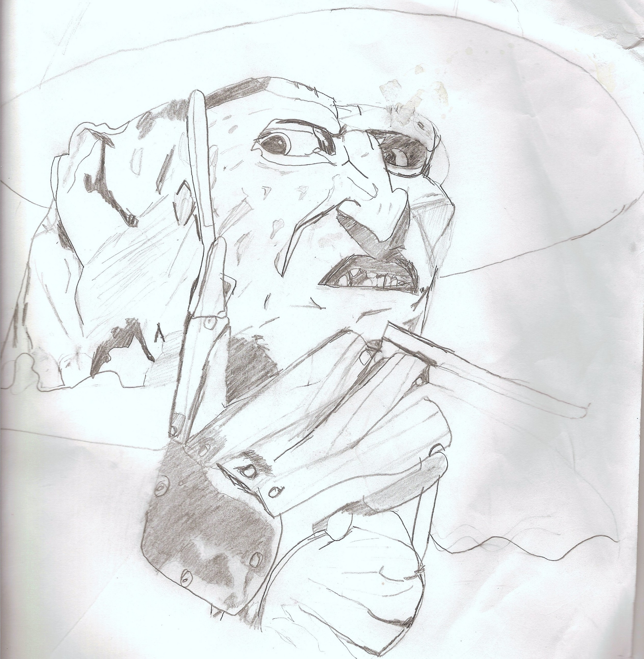 Drawing freddy krueger