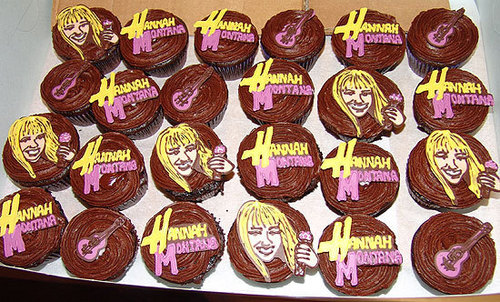 Hannah Montana chocolat cupcakes
