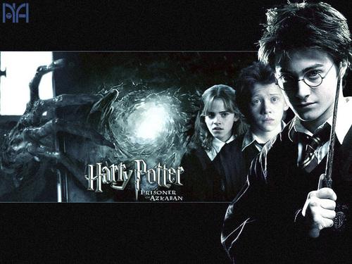 Harry,Ron and Hermione वॉलपेपर्स
