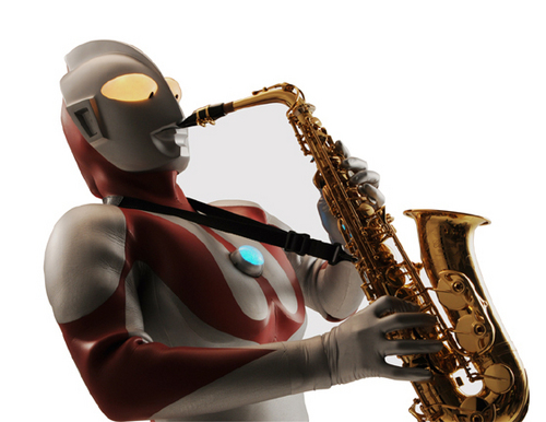 He plays the saxophone