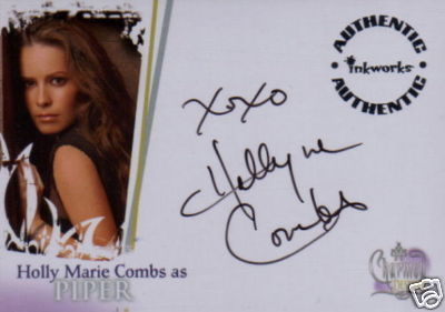 houx Marie Combs autographs