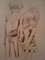 Ikuto and Amu :D  - shugo-chara fan art