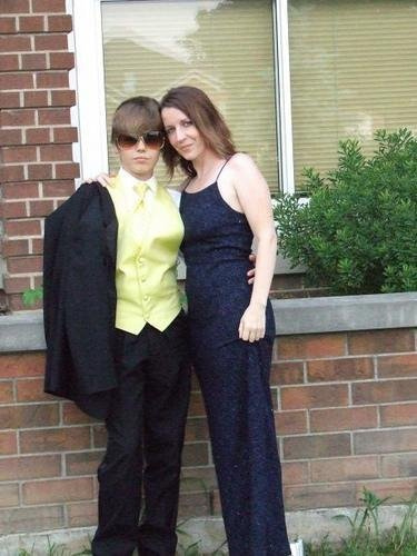 Justin Bieber & Patty (His mom)