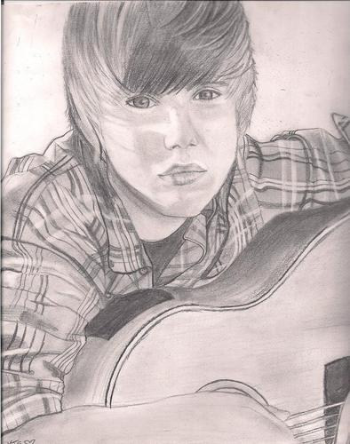 Justin Bieber hình nền titled Justin Bieber Pencil Drawing