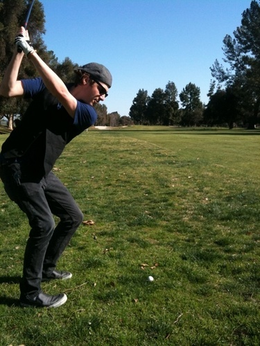 Kendall playing Golf..!!!