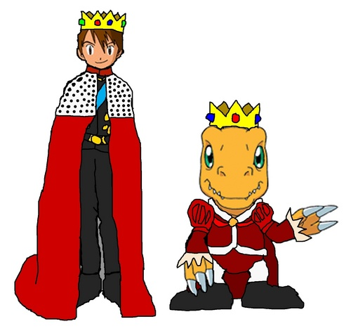 Emperor Tai and King Agumon - digimon Fan Art