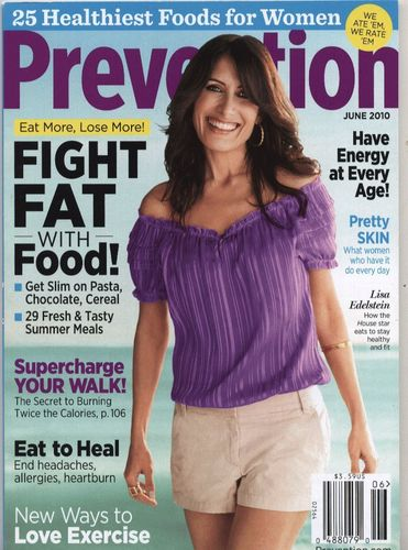 Lisa Edelstein on the cover of Prevention, June 2010