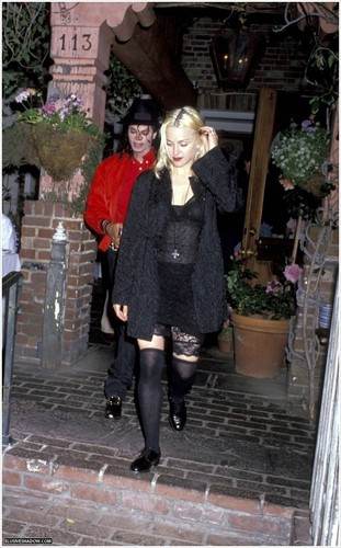 MJ & Madonna at Ivy restaurant