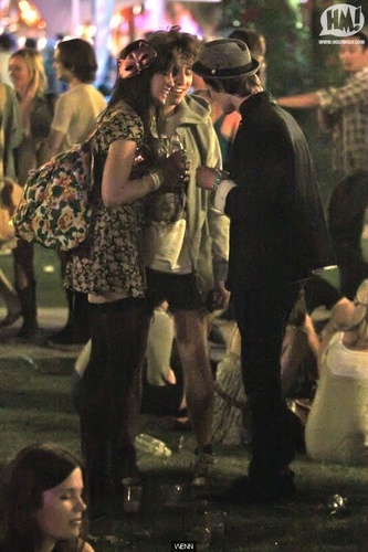 Matt Smith & margarita Lowe at Coachella
