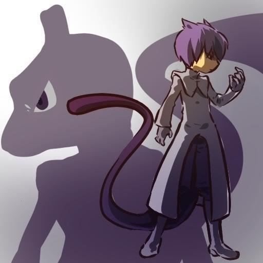 Mewtwo and trainer