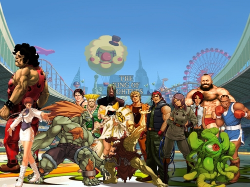 My fighting game team.