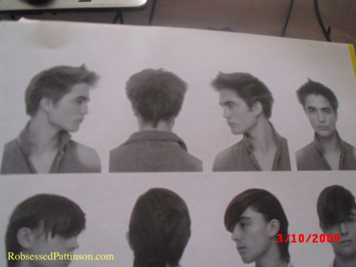 New/Old Pics Of Robert Pattinson Modelling For A Hairdressers Magazine