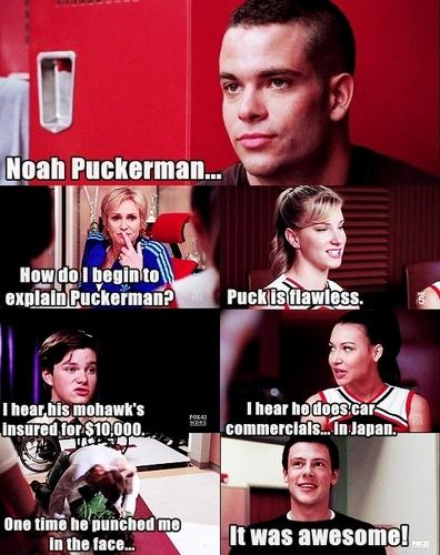 Puckerman // Mean Girls reference