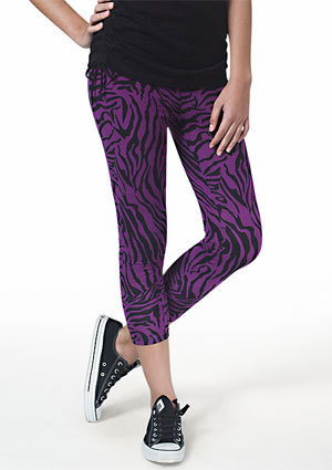 Purple Animal Print Legging