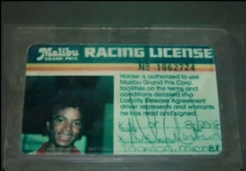 Racing License of MJ