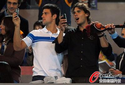 Rafa and Novak photographed