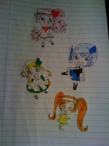 Ran-Miki-Su-Dia Drawing