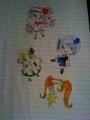 Ran-Miki-Su-Dia Drawing  - shugo-chara fan art