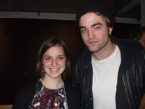 Rob with a shabiki on 3/26/10