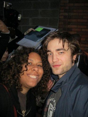 Rob with a shabiki outside The Daily onyesha 3/2/10