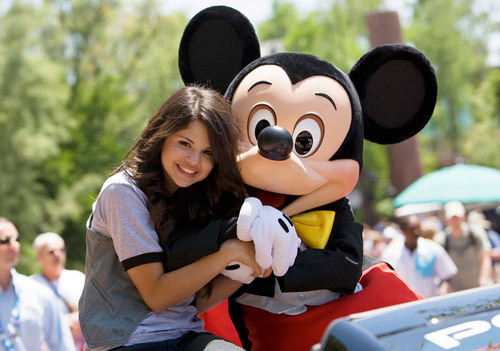 Selena Gomez At DisneyLand