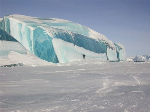 Striped icebergs!