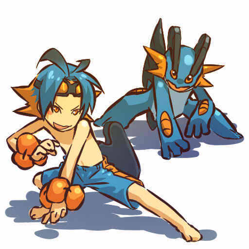 Swampert and trainer