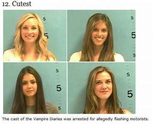 TVD  girls arrested