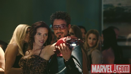 Tony Stark and Black Widow