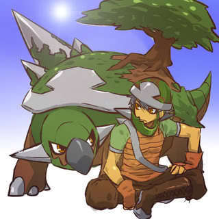 Torterra and trainer