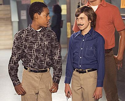 Vincent Martella as Greg Wearing a Fake Mustache