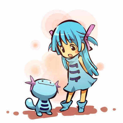 Wooper and trainer