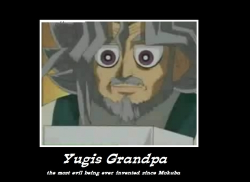 Yu-Gi-Oh 壁纸 entitled Yugis Grandpa