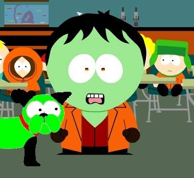 Zim and GIR in south park!