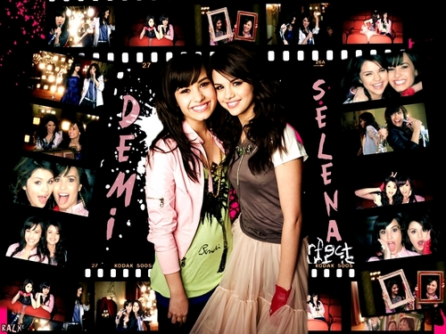 Selena Gomez et Demi Lovato fond d'écran entitled bff selena & demi
