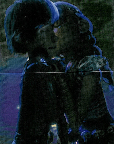 Hiccup & Astrid wallpaper titled Astrid kisses Hiccup