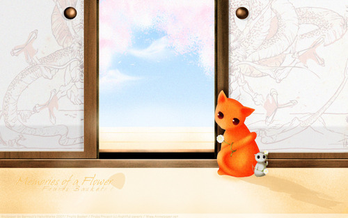 Cat, and Rat - fruits-basket Wallpaper