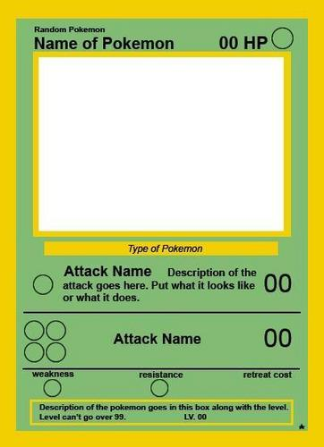 Empty pokemon card