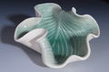 Hosta plate Handmade pottery - home-decorating fan art