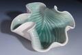 Hosta plate Handmade pottery