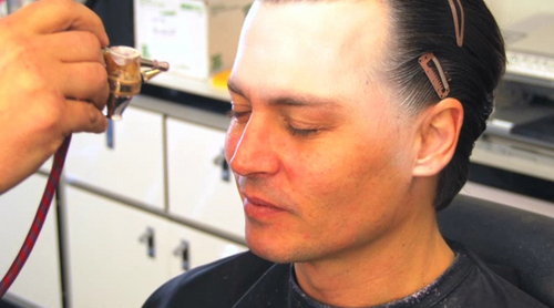 Alice im Wunderland (2010) Hintergrund entitled Johnny Depp Makeup