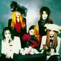 Malice Mizer with the vocalist, Tetsu