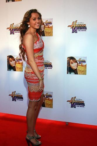 Miley Cyrus at the Rome Premiere of Hannah Montana: The Movie
