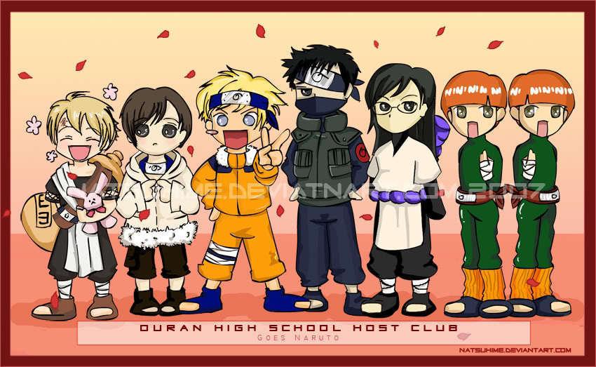 Ouran high school host club naruto cosplay
